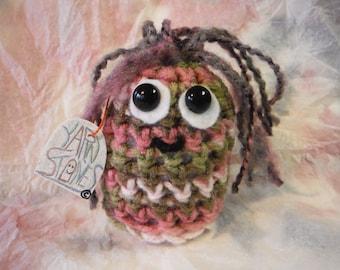 KAMMY Yarnstones Crocheted Amigurumi with name tag
