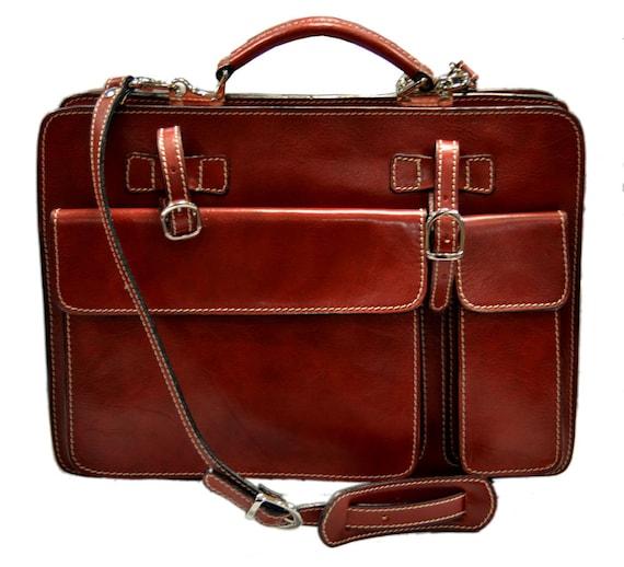 Cartella pelle uomo donna valigetta 24 ore borsa pelle a mano for Borsa ufficio uomo