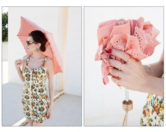 Parasol, Sun Umbrella, Rain Umbrella - AMARELLA  Peach 2in1