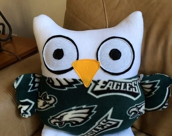 Philadelphia Eagles Owl Pillow