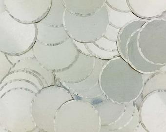 3/8 Inch 22 Gauge Sterling Silver Disc - HAMMERED EDGE