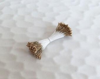 Millinery Stamen golden Pip for Handcrafting Flower Kanzashi