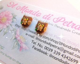 Sweet Little Owls Polymer Clay Stud Earrings Kawaii