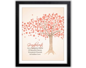 Gifts For Grandparents - Watercolor Tree - Personalized Grandparent Gift - Christmas Gift - Grandparents Tree -  Family Tree
