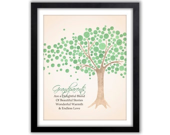 Gifts for Grandparents Personalized Grandparent Print In