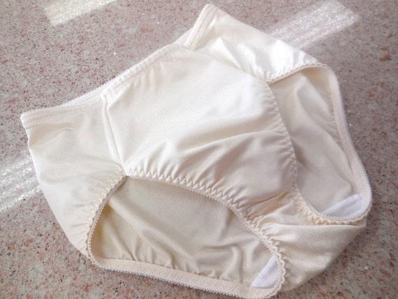 Vintage Panties Nylon Large Size Nude Color by LaFlirtBoutique