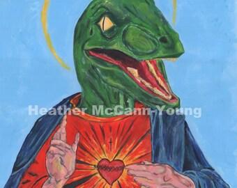 Raptor Jesus art print