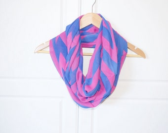 Infinity Scarf, woman gift idea, soft light Pink & Purple, light weight, gifts for her, teen girl gift, girlfriend gift, mom gift