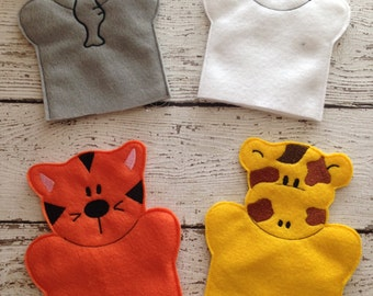 Jungle animal Child hand puppets, animal hand puppets