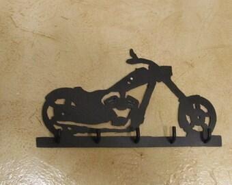 Motorcycle key holder - Made from14 gauge steel - black paint