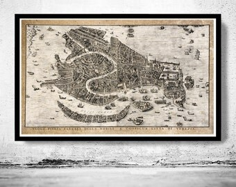 Antique Map of Venice Venetia Venezia 1729