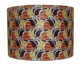 African wax Lampshade, Back To School, Dorm Room Decor, Coffee Beans African print, 30cm Drum lamp shade, Housewarming Gift, Detola and Geek