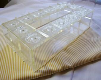 vintage kleenex box faux crystal decorative tissue cover feminine cottage chic bathroom decor