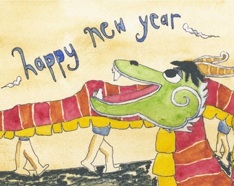 A HAPPY NEW YEAR greeting card