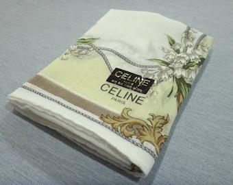CELINE PARIS Carriage Pattern Handkerchief M