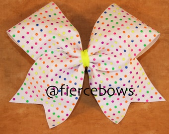 I Love Candy Cheer Bow