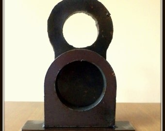 "Welded Recycled Metal Sculpture ""WOMAN"""