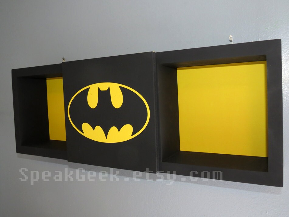 Batman Shadow Box Shelf Superhero Home Decor Cubbie