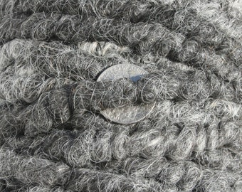 100% suri HEATHERED GRAY core spun rug yarn