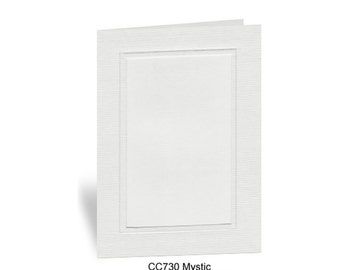 Photo Insert Note Cards, Mystic Gray- 10 cards and envelopes, 100% recycled & made in the USA