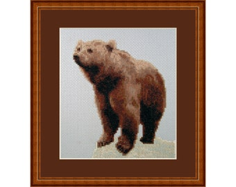 Cross Stitch Kit Bear, Master of the Forest
