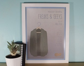 Minimal Freaks & Geeks 30x40cm Illustrated Print