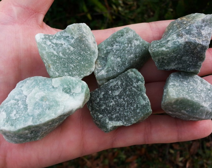 Green Aventurine (Adventurine, Avanturine, Aventurine Quartz, Indian Jade) ~ 1 med/large Reiki infused rough crystal approx 1.2-1.5inches