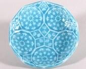 Turquoise Blue Soap Dish - Dancing Stars Ring Dish, Spoon Rest, Trinket Dish