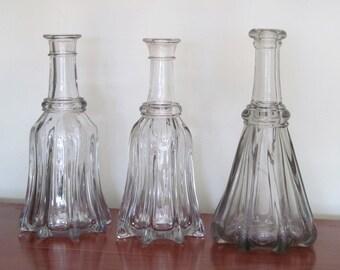 1830's RARE FIND Globular Bar Bottle Flint Decanter