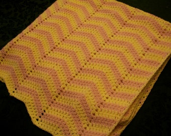 Rosy the Ripple Baby Blanket