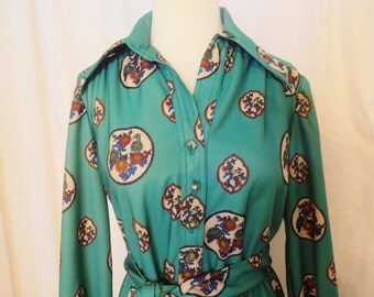 Vintage Leslie Fay Original Shirtwaist Dress 1970's