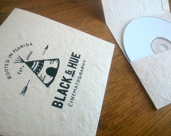 CD Sleeve Natural, CD Packaging, Wedding Favour, Personalised, Natural Lokta.