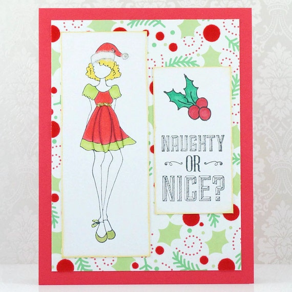 CLEARANCE 50% Off Christmas Cards Girl InDress Holiday
