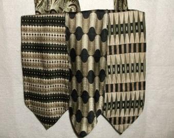 Recycled Tie Purse. OOAK