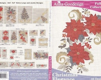 Christmas Elegance Anita Goodesign Embroidery Design Cd