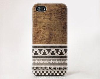 Geometric on wood iPhone 6 case Geometric iPhone 6 case Wood iPhone 5 case geometric iPhone 5c case