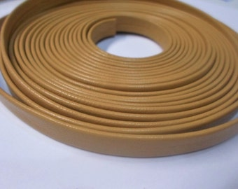 Pre Cut, No Joins, Dark Yellow Genuine Nappa 10mm Leather Cord,  Leather Bracelet Finding, Jewelry Supplies,