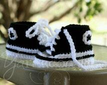 Crochet Infant Newborn Baby Converse Sneakers Chucks Tennis Shoes