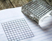 10 x 10 Grid Lines - 2x2 Inch Rubber Stamp
