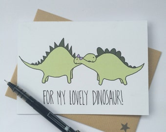 For my Lovely Dinosaur - Valentines Card