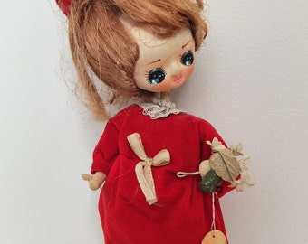 Vintage Big Eyed Twiggy Pose 'Jill' doll from Japan 1960s