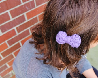Purple Hair Bow, Baby Knit Hair Bow, Girl Purple Hair Bow Accessory, Knit Hair Bow, Girl Hairbow, Baby Hair Clip, Baby Hairbow, Girl Gifts