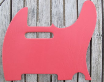 "Pink Latigo Leather Fender Telecaster Guitar Pickguard 8 oz 1/8"" 5,8,10 Hole"
