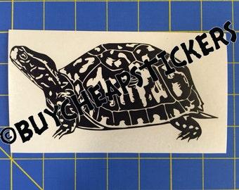 Box Turtle Decal/Sticker 3X6