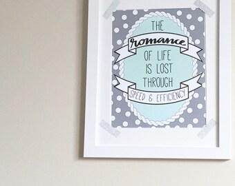 Romance of life print