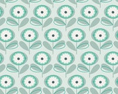 "Littlest Fabric from Art Gallery ""Playful Petals Menthe""  Into the PIne Woods. Baby Nursery. 100% premium cotton. LT-10037 - By the 1/2 Yard"