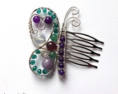 Butterfly Hair Comb Ornament