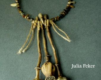 """Necklace """"Poppy pods"""""""