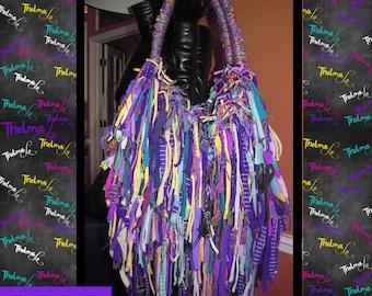 Upcycled Fringe Handbag,Custom Made,One Of A Kind, Hippie,BoHo,Funky,Purse