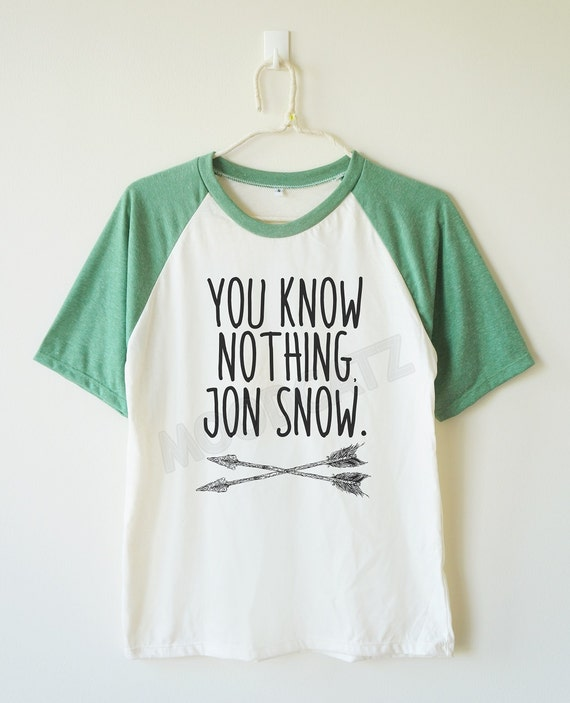68de52ea ... One Word Funny T Shirts: You Know Nothing Jon Snow Shirt Word Tshirt  Funny By